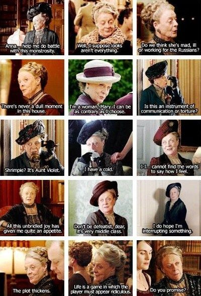 dowager countess maggie smith lady violet