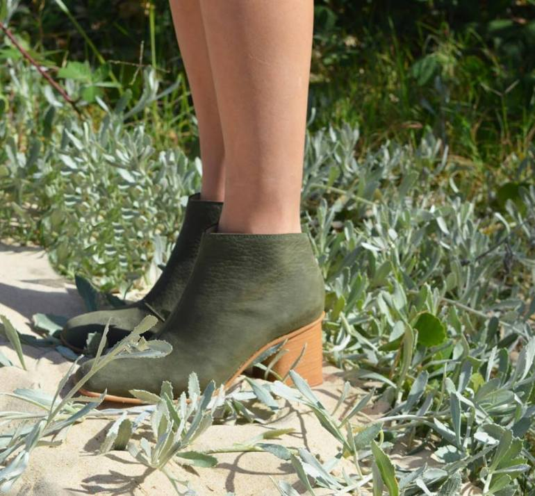 BOTAS CAROLA VERDE FASHION