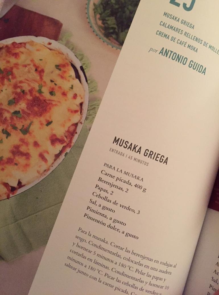 musaka griega libro que hay de comer montevideo